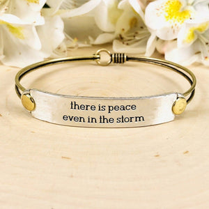 """There is Peace Even in the Storm"" Hooked Cuff BeStrong"