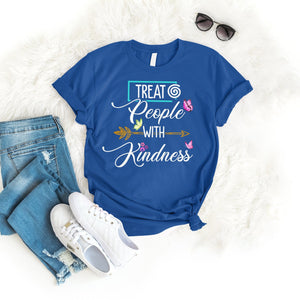 Treat People With Kindness Tee T-Shirt Printify Royal S