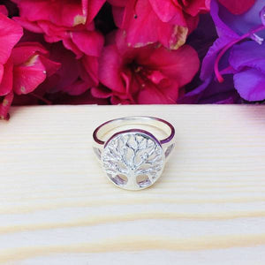 """Tree Of Life"" Silver Tone Ring BeStrong"