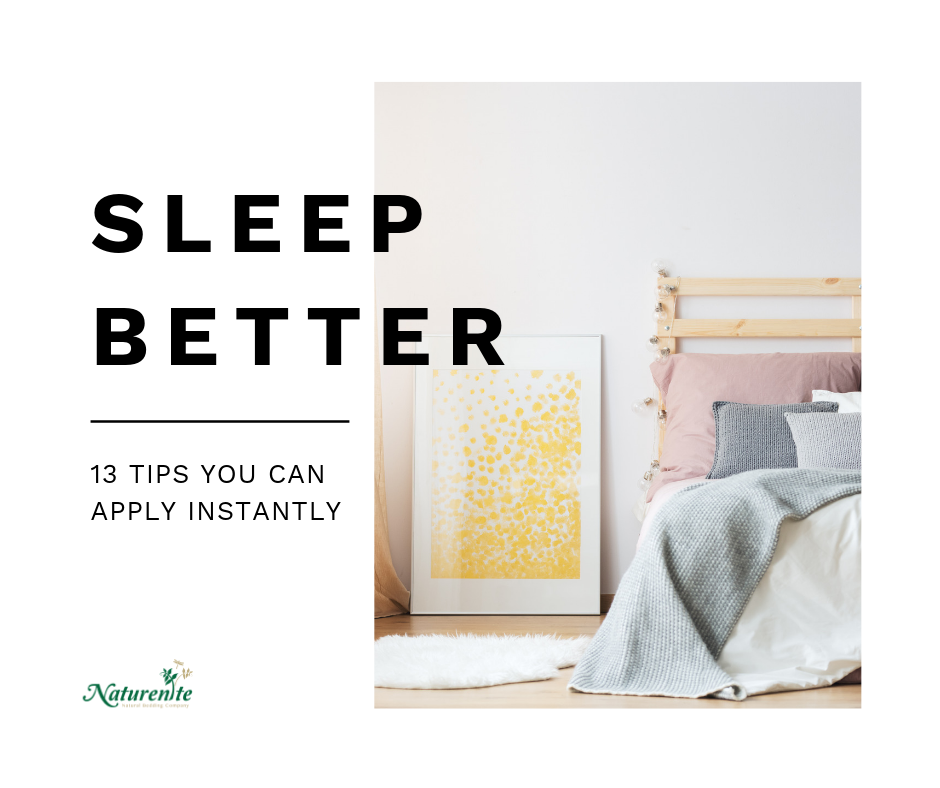Naturenite blog - 13 tips to sleep better