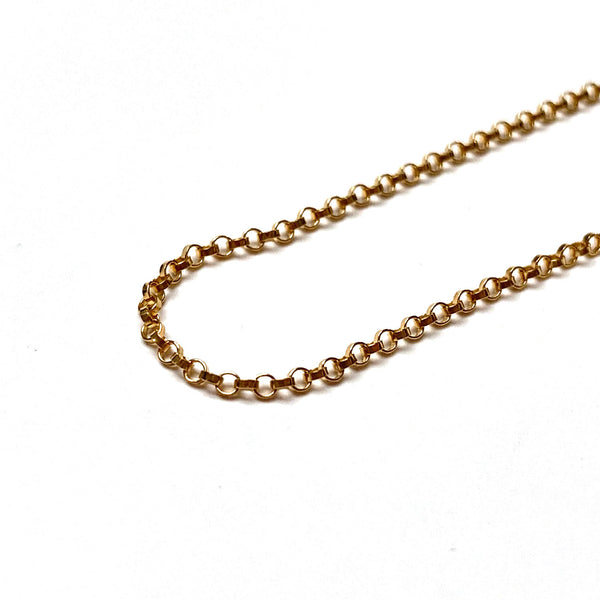 GOLD FILLED ROLO CHAIN 1.25MM 16 INCHES