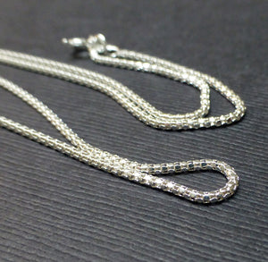STERLING SILVER MIRROR CHAIN 1.35MM 18 INCHES, 20 INCHES