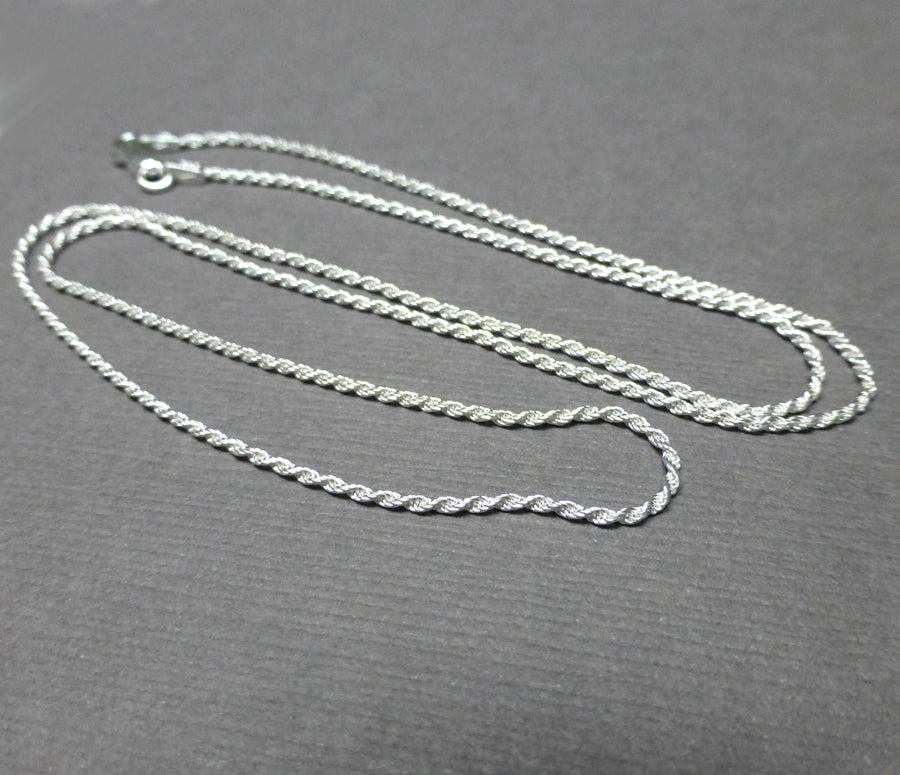 STERLING SILVER FRENCH ROPE CHAIN. WIDTH OPTIONS. LENGTH OPTIONS.