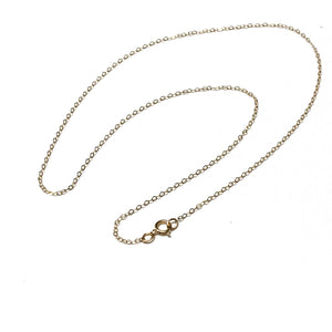 GOLD FILLED FLAT CABLE CHAIN 16, 18, 20 INCHES