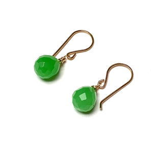 GOLD FILLED JADE BRIOLETTE EARRINGS - SERENITY TALISMAN