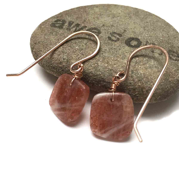 GOLD FILLED SUNSTONE EARRINGS - JOYFUL TALISMAN