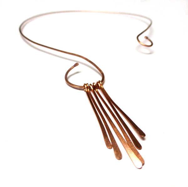 COPPER PADDLE NECKLACE - CIRCLE OF LOVE TALISMAN