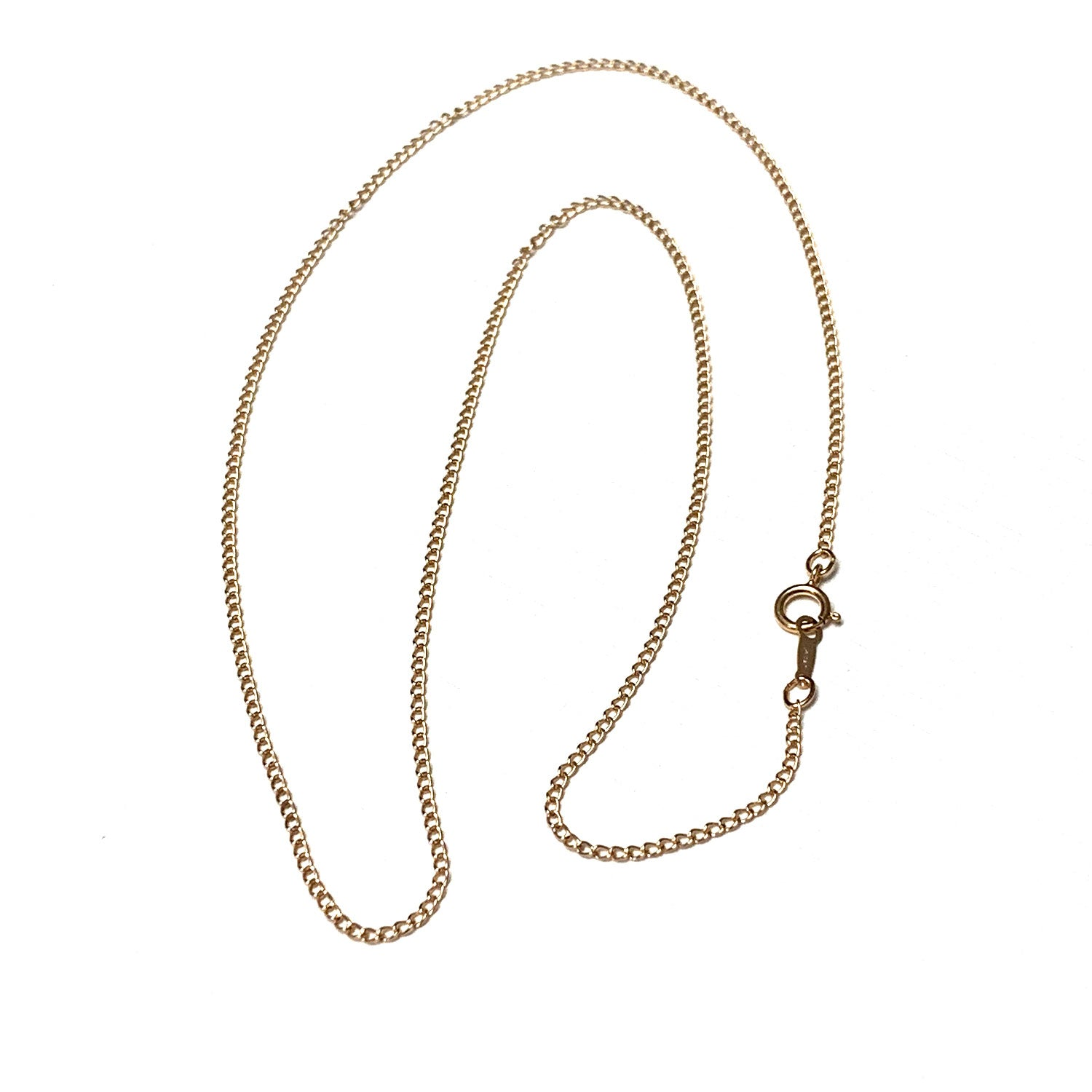 ROSE GOLD FILLED CURB CHAIN NECKLACE 18 INCHES
