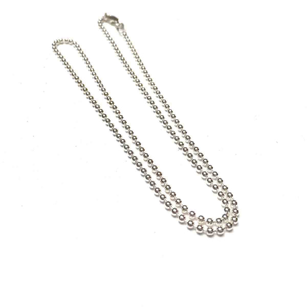 STERLING SILVER BALL CHAIN NECKLACE 1.8MM 18 INCHES