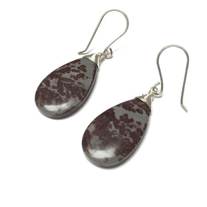 STERLING SILVER CHOHUA JASPER EARRINGS - NURTURE ME TALISMAN