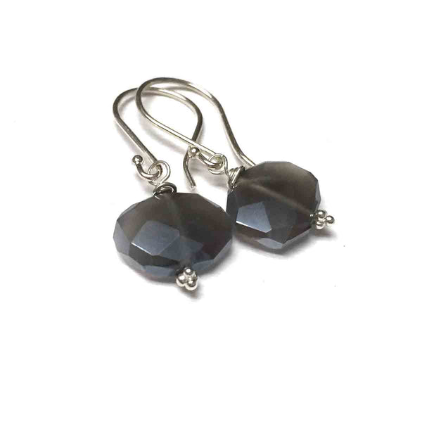 STERLING SILVER GREY MOONSTONE EARRINGS - INNER BEAUTY TALISMAN