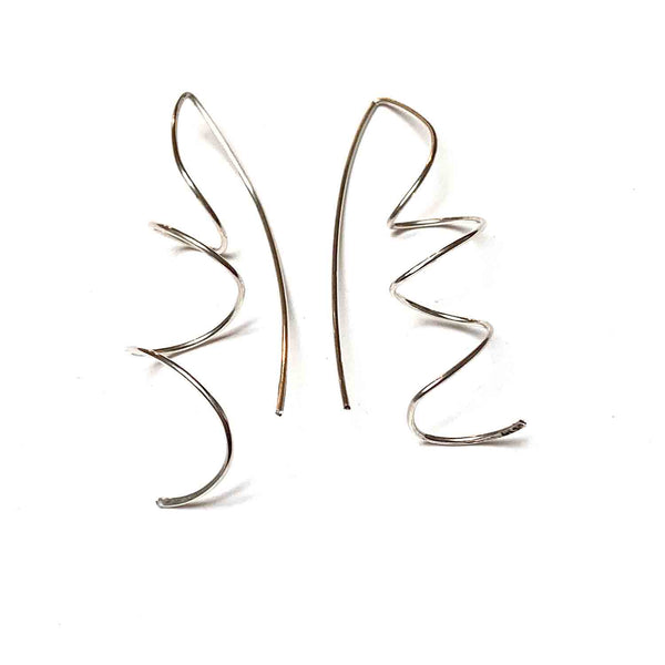 STERLING SILVER SWIRL EARRINGS - MIRROR OF THE SOUL TALISMAN