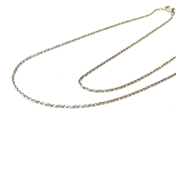 STERLING SILVER TWIST BOX CHAIN .85MM 16 INCHES