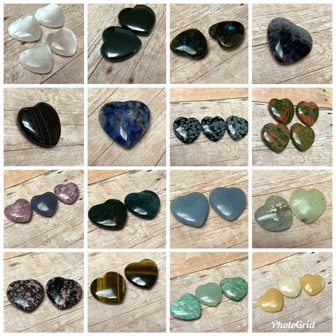 POCKET HEART STONE - VARIOUS TALISMANS