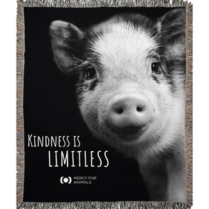'Kindness' Throw, Piglet