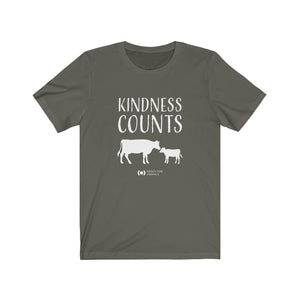 Kindness Counts T, Light Print, Cows