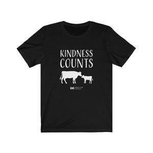 'Kindness Counts' T, Light Print, Cows