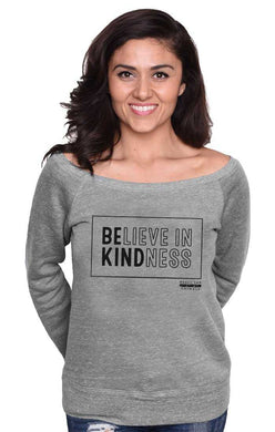 'Believe' Scoop Neck Sweatshirt
