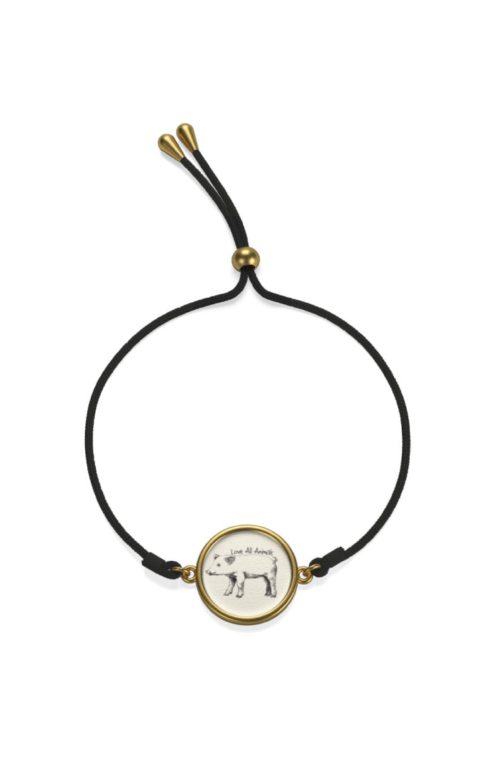 'Love All Animals' Cord Bracelet | ShopMFA.com