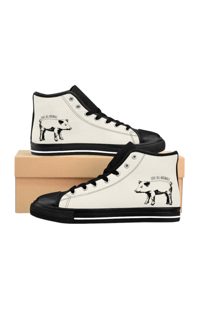 'Love All Animals' High-Top Sneakers