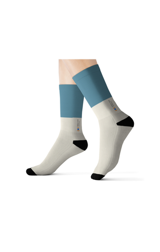 Mercy For Animals Color-Block  Socks - Blue