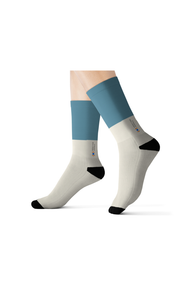 Mercy For Animals Color-Block  Socks - Blue | ShopMFA.com