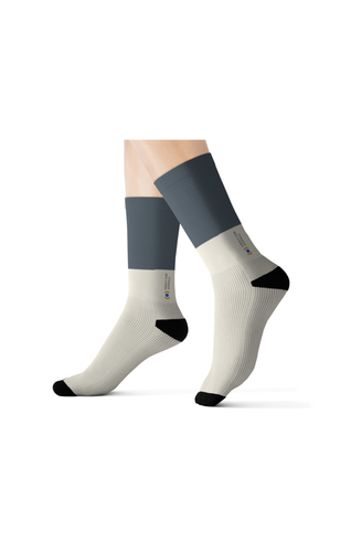 Mercy For Animals Color-Block Socks - Grey | ShopMFA.com