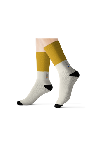 Mercy For Animals Color-Block  Socks - Yellow