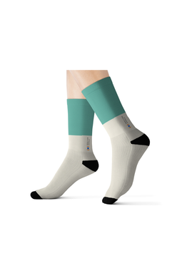 Mercy For Animals Color-Block  Socks - Teal | ShopMFA.com