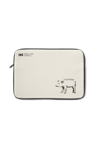 'Love All Animals' Laptop Sleeve | Printify