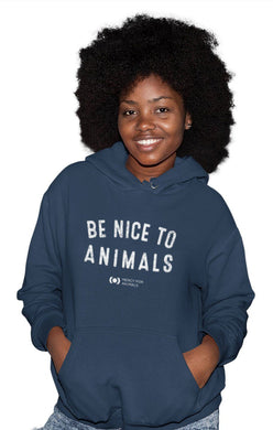 'Nice to Animals' Pullover Hoodie