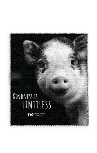 'Kindness' Throw - Piglet