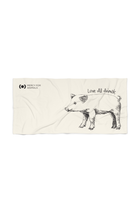 'Love All Animals' Beach Towel - Piglet | Printify