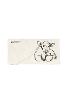 'Love All Animals' Beach Towel - Calf | Printify