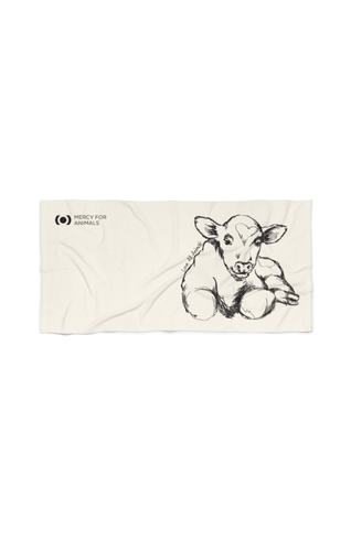 Love All Animals Beach Towel, Calf