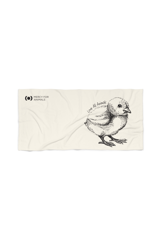 'Love All Animals' Beach Towel - Chick | Printify