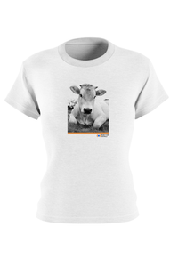 Moo-ving Pictorial T, Fitted