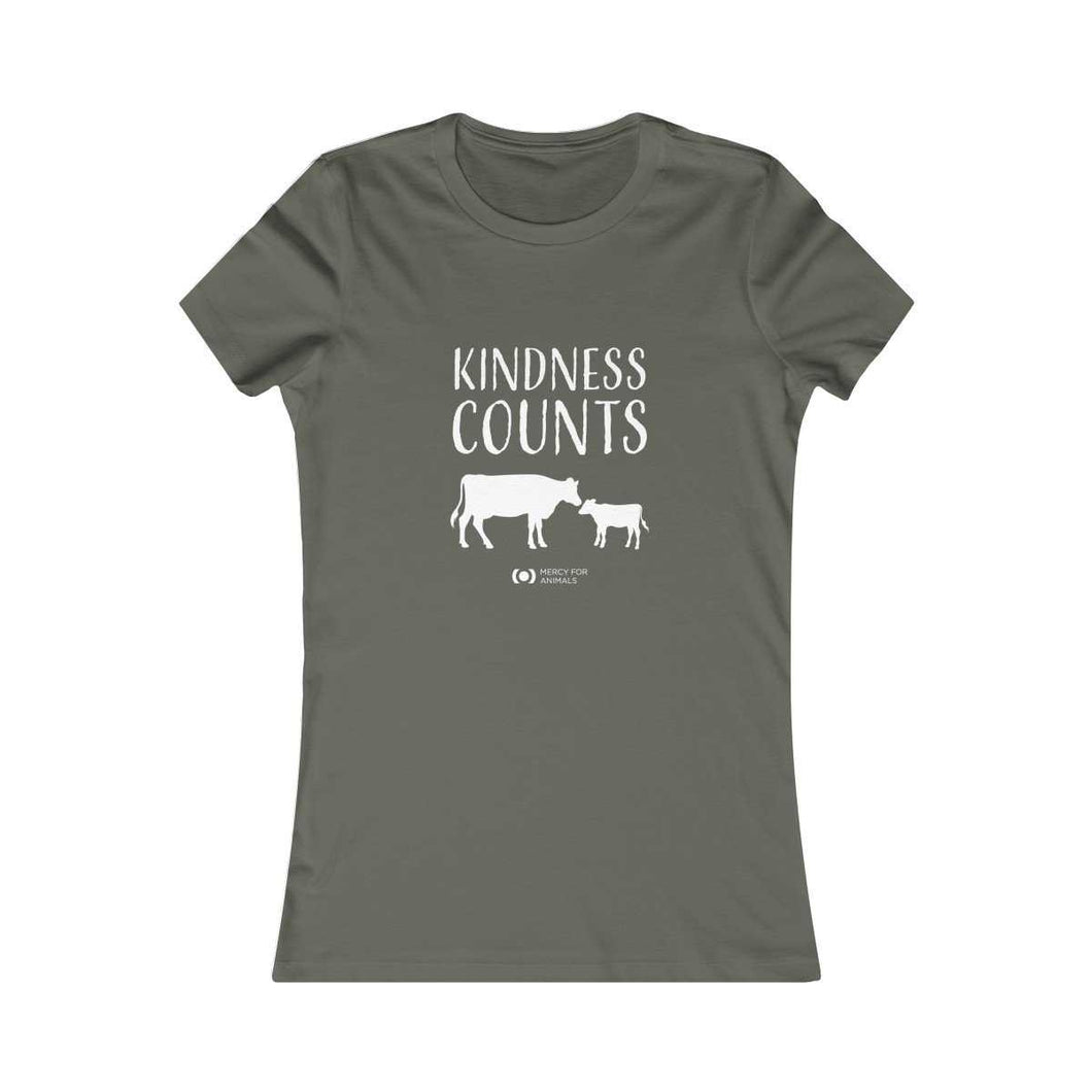 'Kindness Counts' T - Fitted - Light Print - Cows