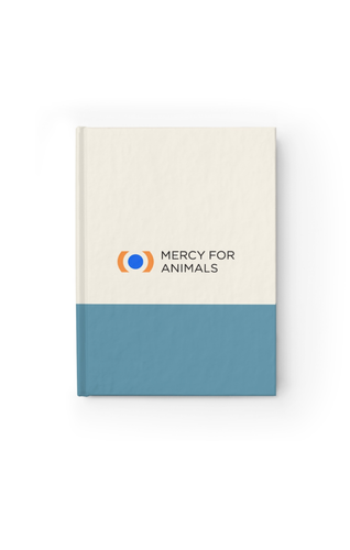 Mercy For Animals Color-Block Journal - Blue/Blank | ShopMFA.com