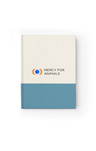 Mercy For Animals Color-Block Journal-Blue/Ruled | ShopMFA.com