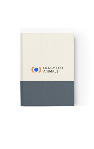 Mercy For Animals Color-Block Journal- Grey/Ruled