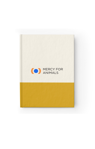 Mercy For Animals Color-Block Journal-Yellow/Ruled | ShopMFA.com