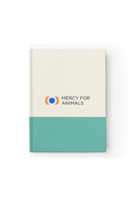 Mercy For Animals Color-Block Journal - Teal/Blank | ShopMFA.com