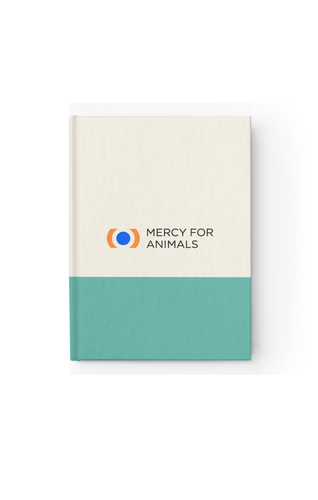 Mercy For Animals Color-Block Journal-Teal/Ruled