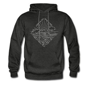 'Cruelty-Free Sea' Eco Hoodie - charcoal gray