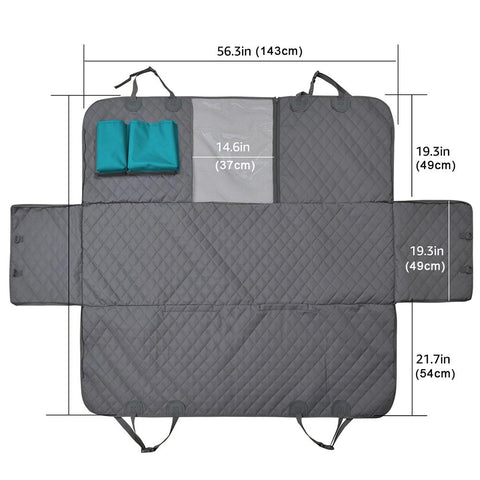 Coolid backseat cover dimensions