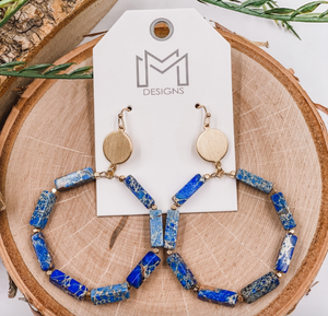 Stoney Earrings - Blue