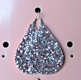 X: Pink Glitter Earrings