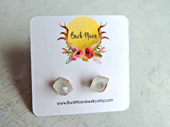 ZZ: Moonstone Stud Earrings