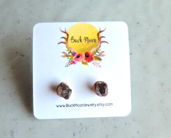 Smokey Amethyst Stud Earrings